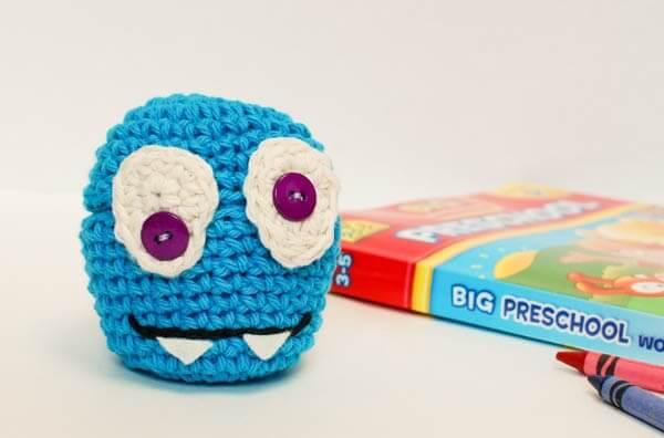 crochet monster cozy