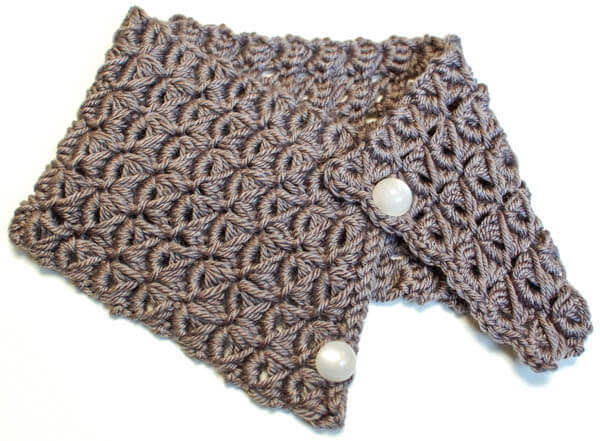 broomstick lace cowl