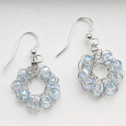 wire crochet earrings