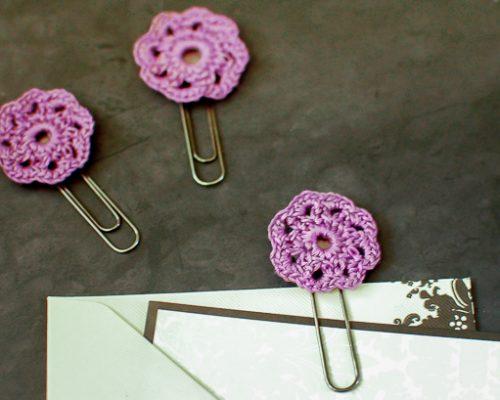 crochet flower paper clips (1 of 2)