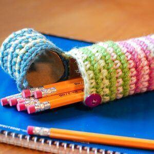 crochet pencil case pattern