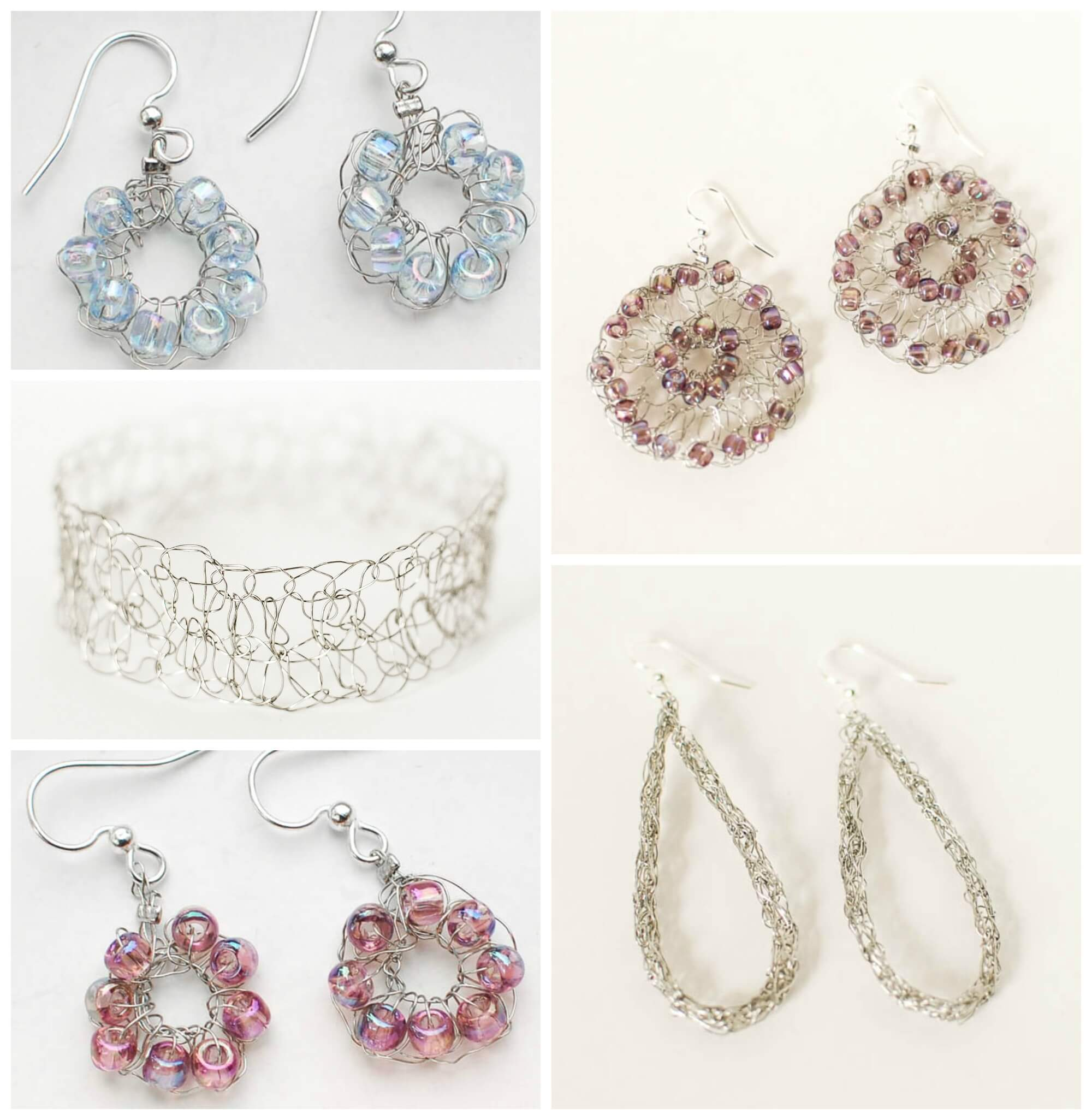 Crocheted Wire Jewelry Inspiration - Happy Hour Projects