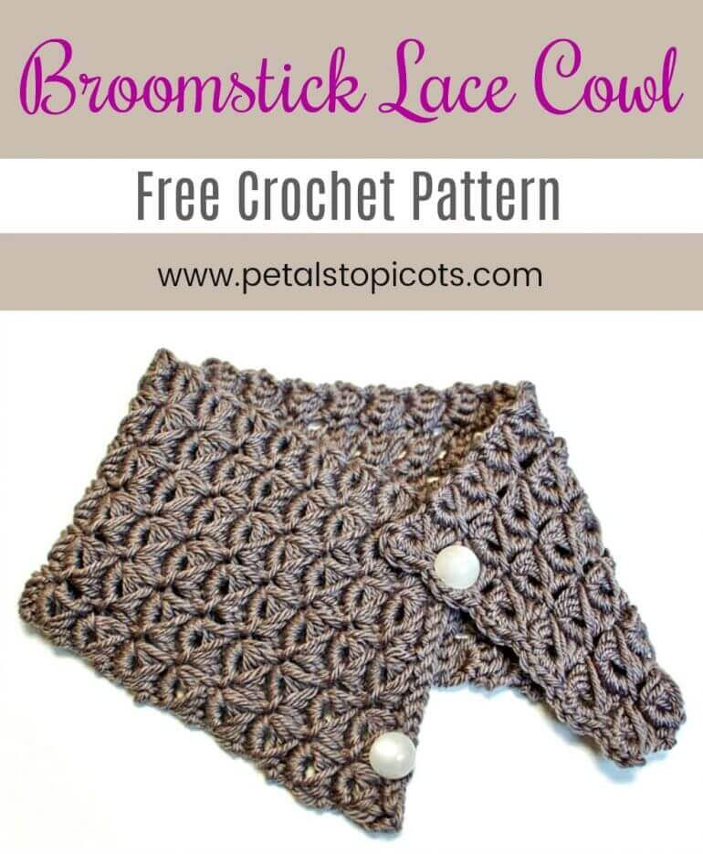 Broomstick Lace Cowl Pattern ... Broomstick Lace Pattern