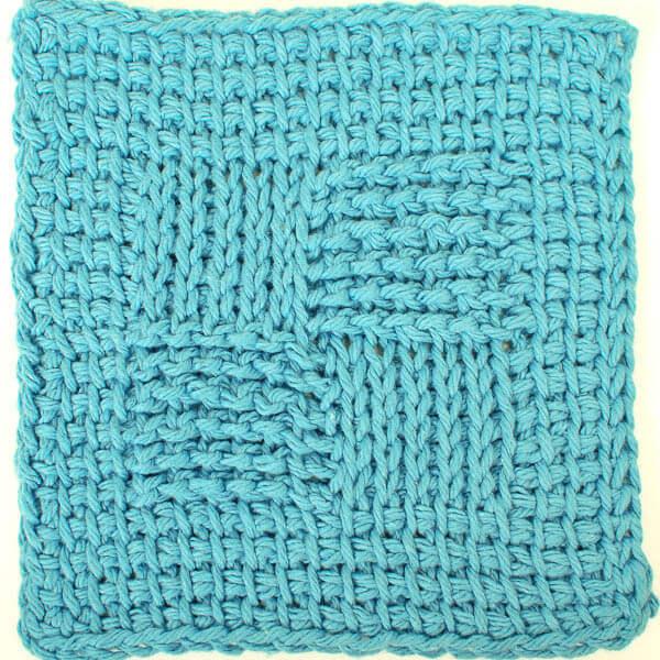 Sampler Washcloth Tunisian Crochet Pattern - Petals to Picots