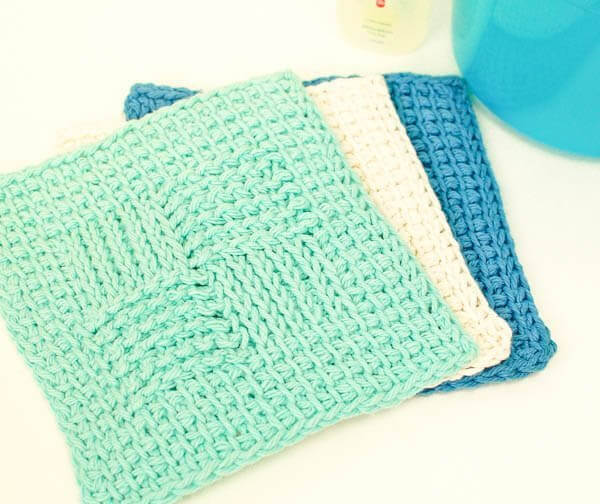 Crochet Stitches Washcloths : Washcloth Tunisian Crochet Pattern www.petalstopicots.com #crochet ...