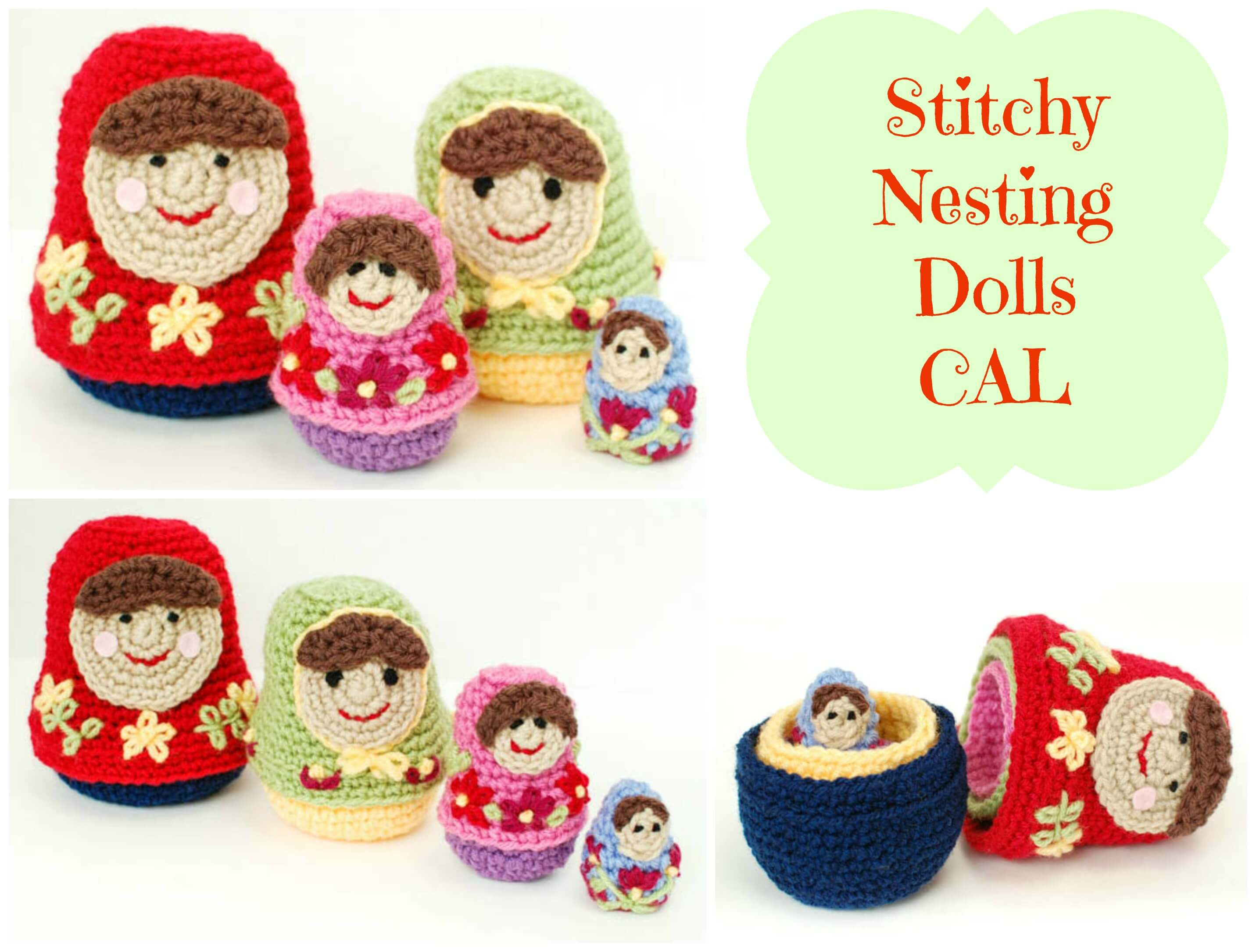 Crochet Nesting Dolls CAL Finale and Giveaway! - Petals to Picots
