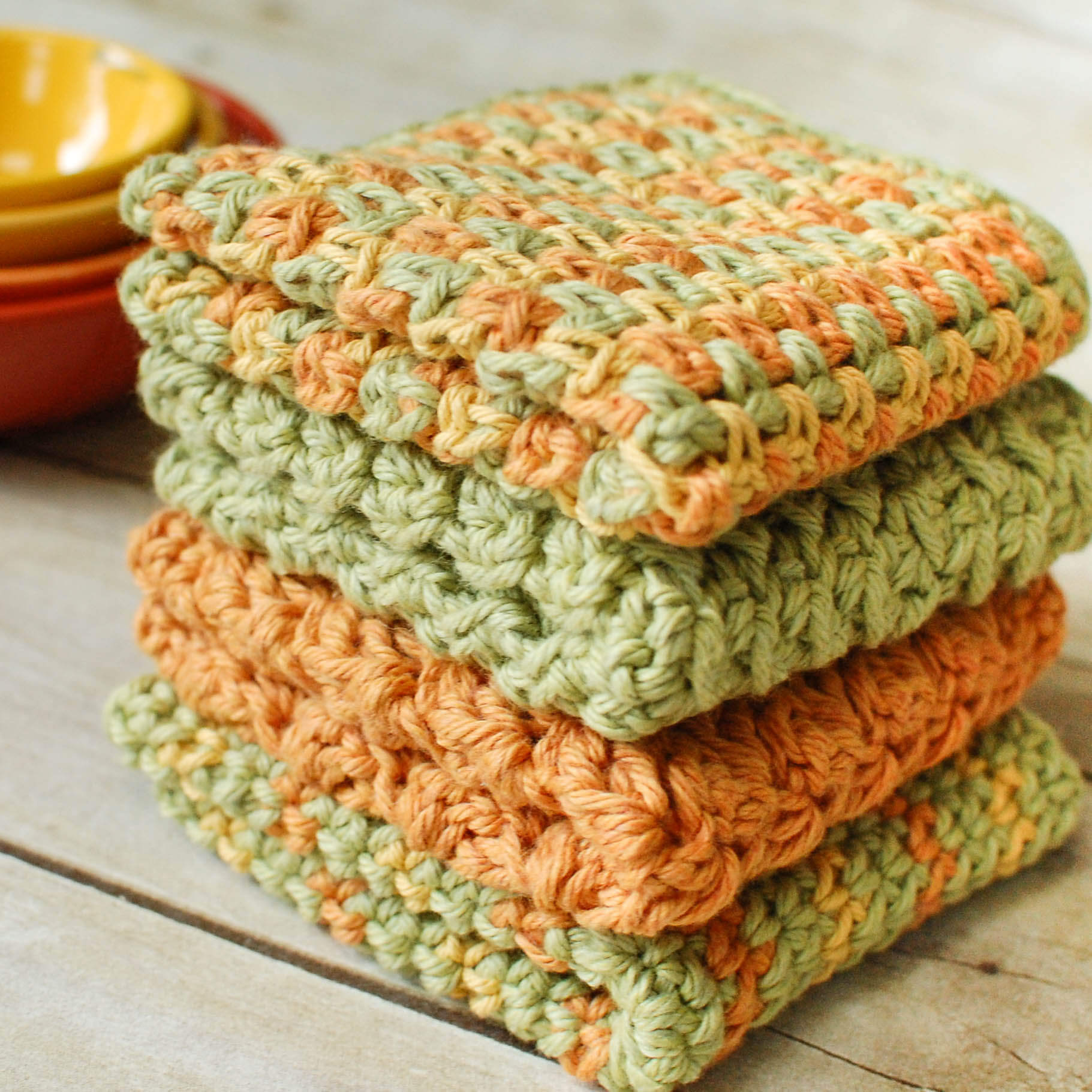 Crochet Dishcloths ? 4 Quick and Easy Patterns - Petals to Picots