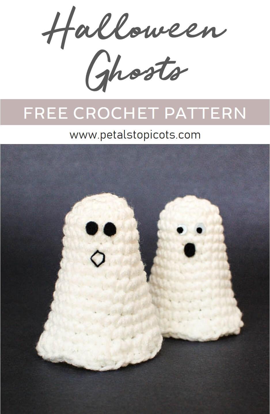 Halloween Ghost Crochet Pattern + Ghosting Printable