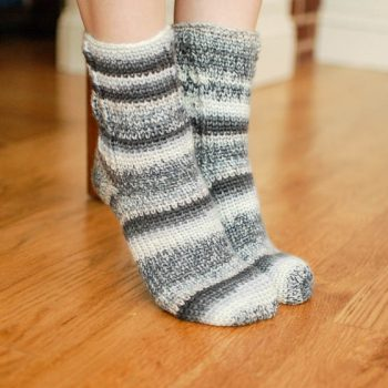 ladies sock crochet pattern
