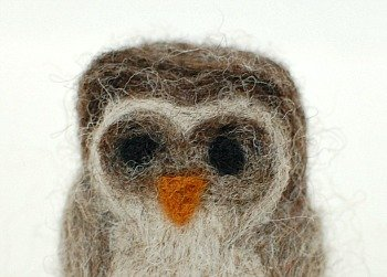 needle felted owl how to 4