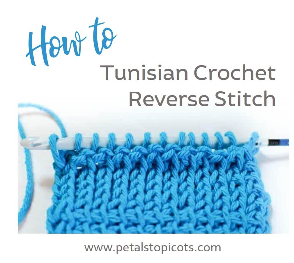 Learn the Tunisian Reverse Stitch with step-by-step photos to guide you through!