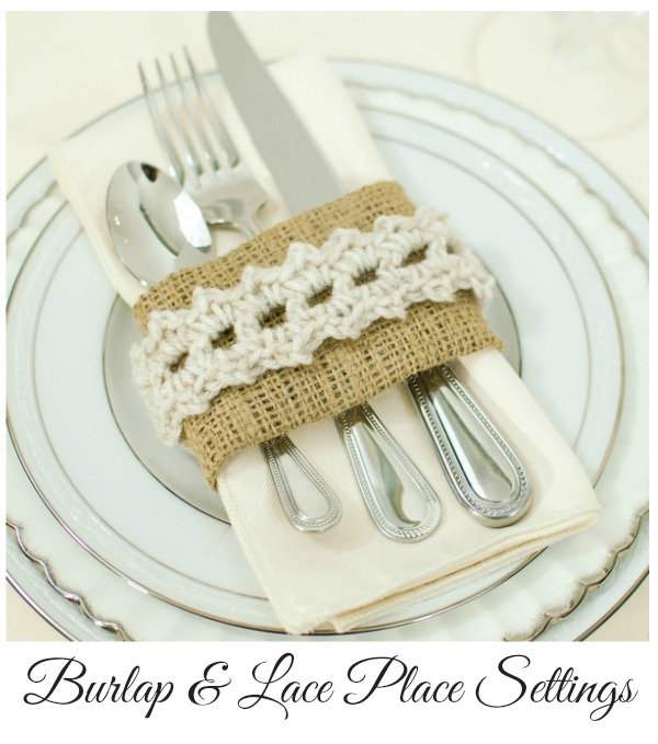 burlap and lace place settings crochet pattern
