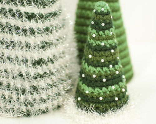 cone crochet christmas trees-5