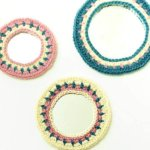 Crochet edged mirrors