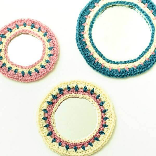 Crochet Mirrors Wall Hanging