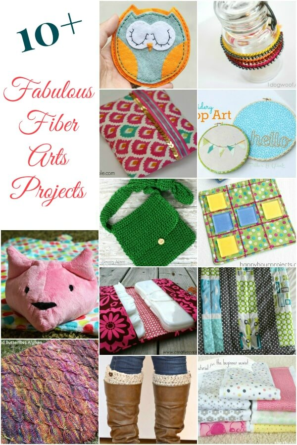 10+ Fabulous Fiber Arts Projects | www.petalstopicots.com | #crochet #knit #fiberarts #sewing
