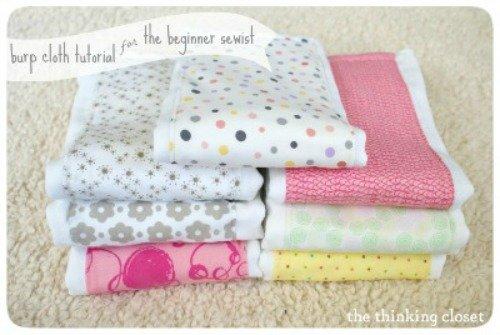 Burp Cloth Tutorial for the Beginner Sewist