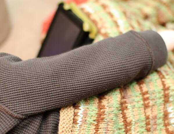Freddie's Blanket knit afghan