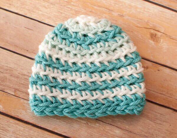 Gentle Ripple Baby Blanket and Hat Crochet Pattern ...