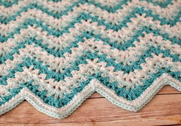 Gentle Ripple Baby Blanket and Hat Crochet Pattern ...