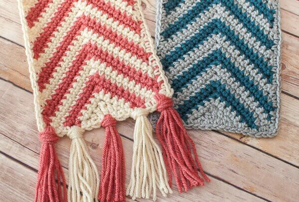 Crochet Pattern Ripple Shawl : Chevron Ripple Scarf Crochet Pattern Petals to Picots