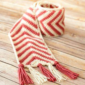 chevron ripple scarf crochet pattern-3