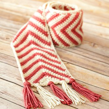 chevron ripple scarf crochet pattern-3