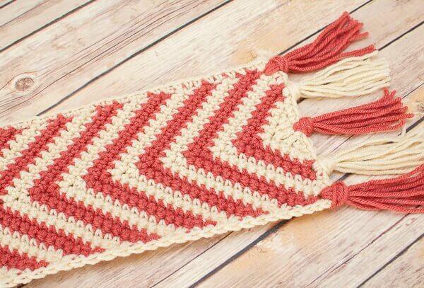 Free Crochet Pattern Ripple Scarf : Chevron Ripple Scarf Crochet Pattern Petals to Picots