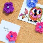 Crochet Flower Push Pins