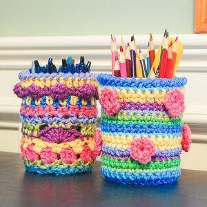 crochet desk accessories