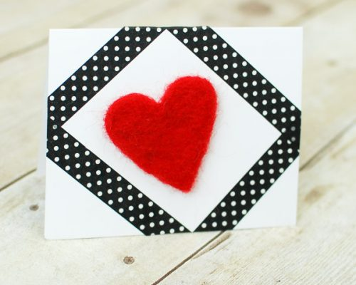 felted heart 1-1-3