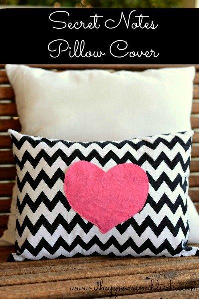 Secret Love Notes Envelope Pillow Cover Tutorial