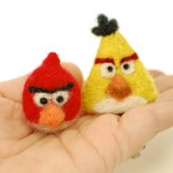 needle felted angry birds 1-8