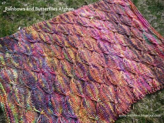 Rainbows and Butterflies Afghan