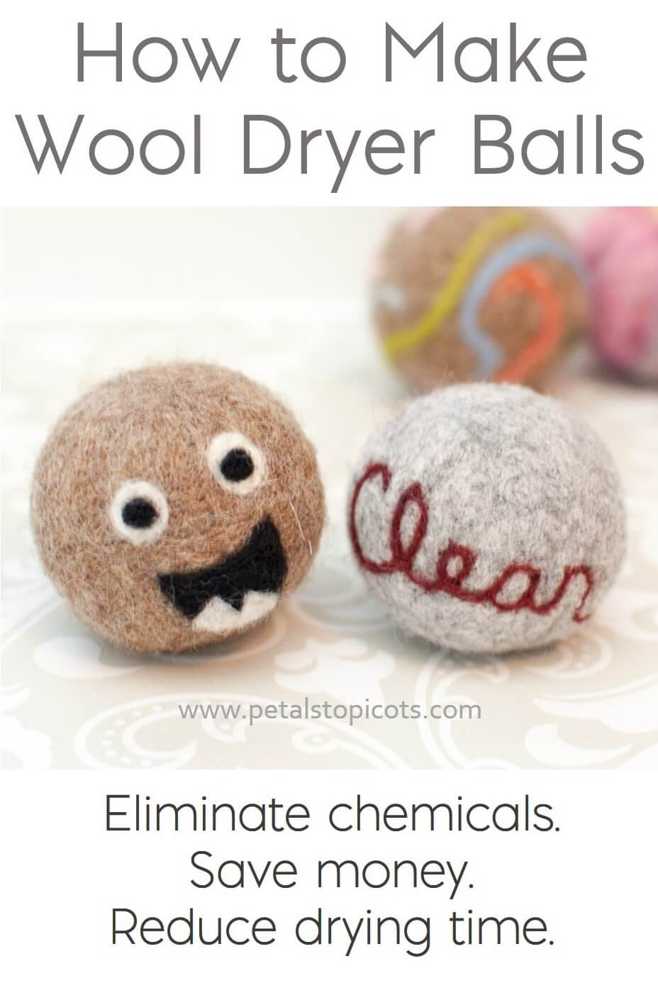 Learn how to make your own wool dryer balls quickly and easily.  Eliminate chemicals, save money, and reduce drying times!