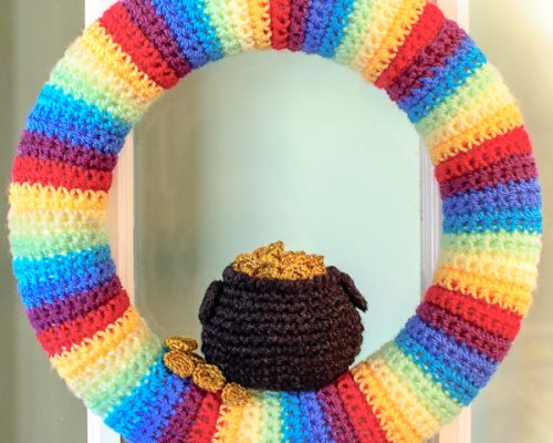 St Patricks Day Pot of Gold Wreath (2 of 2)