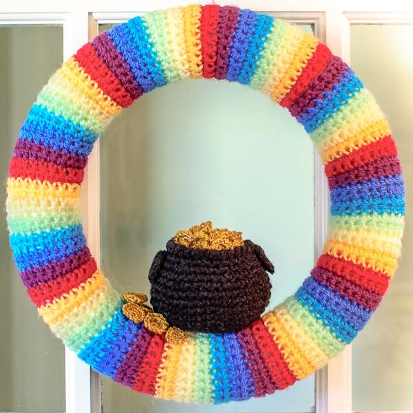 St. Patrick's Day Pot of Gold Wreath Crochet Pattern