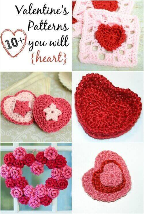 Free Crochet Pattern A Day : Free Valentines Day Crochet Patterns Petals to Picots