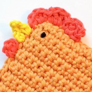 Modelo del ganchillo de pollo ... Patrón pequeño polluelo Bean Bag
