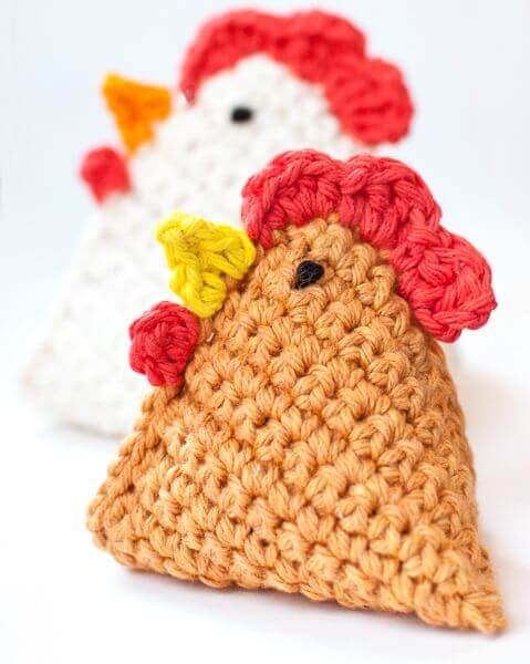 Crochet Beach Bag Pattern : Crochet Chicken Pattern ... Little Chick Bean Bag Pattern ...