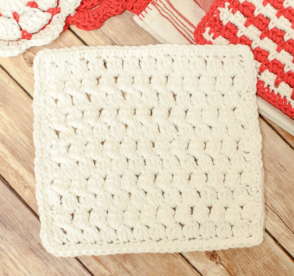 Cluster Stitch Crochet Dishcloth Pattern
