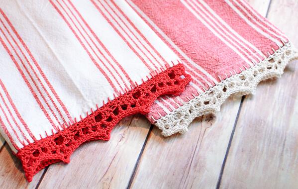 Crochet Edged Tea Towel Pattern