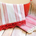 Crochet Edged Tea Towel Pattern