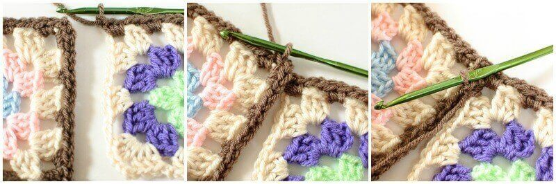 Joining Granny Squares With the Join As You Go (JAYGO) Method Step 1
