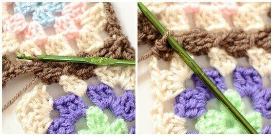 Joining Granny Squares With the Join As You Go (JAYGO) Method Step 4