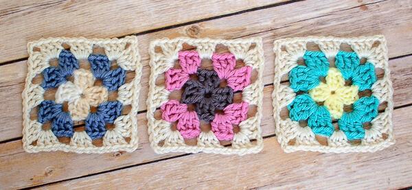 Crochet Granny Square Pattern - Petals to Picots