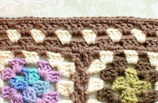 Granny Square Afghan Crochet Edging Pattern