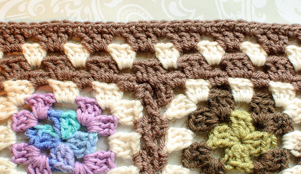Granny Square Afghan Crochet Edging Pattern Finishing My Scrapghan