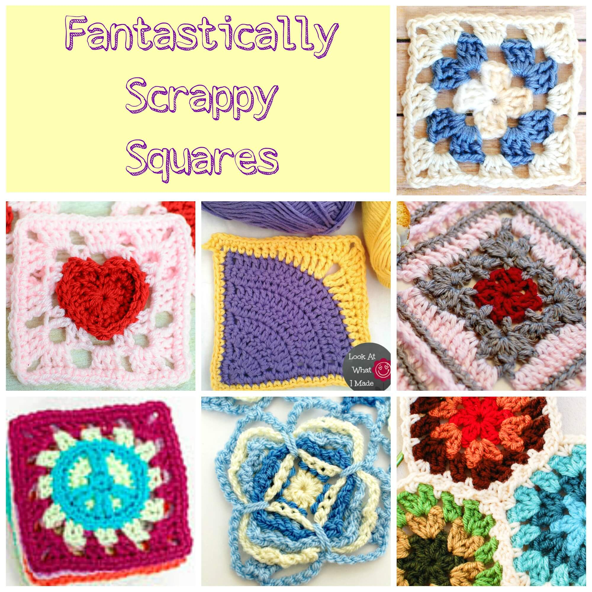 Free Crochet Granny Square Motif Patterns : Lots of Free Crochet Afghan Patterns ? Perfect for ...