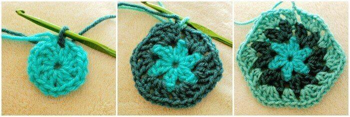 Crochet Hexagon Afghan Pattern and Tutorial